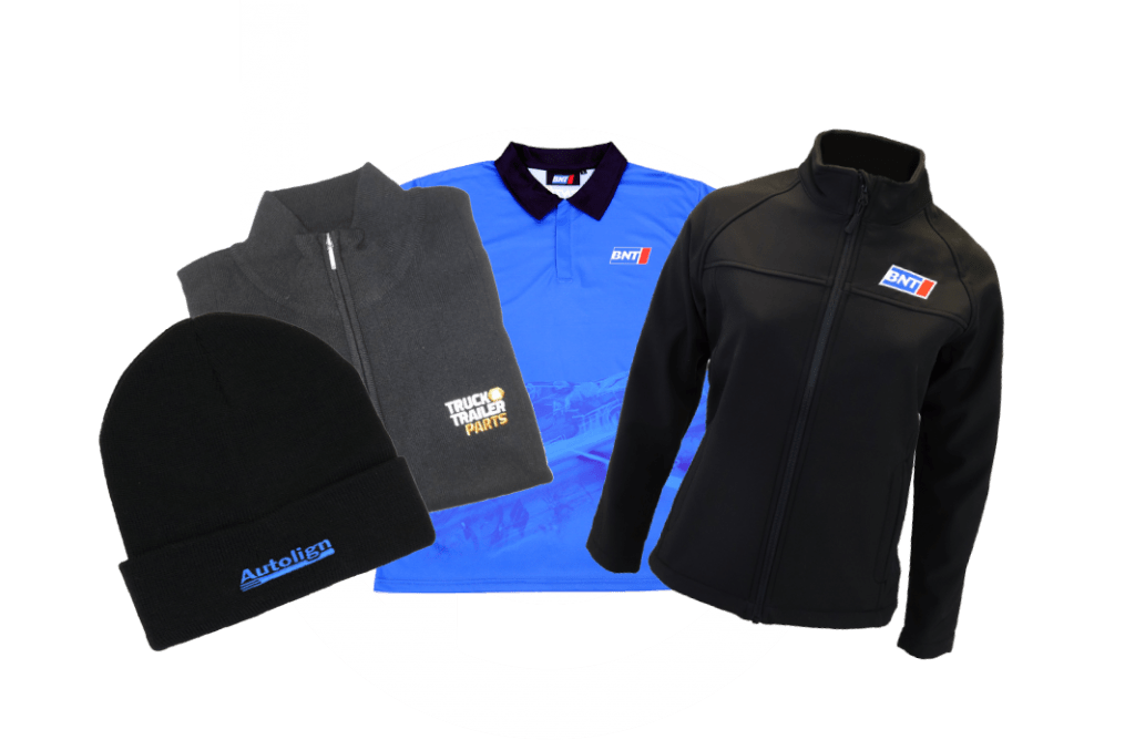 branded work uniforms, safety gear